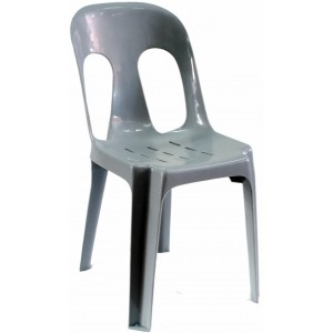 Pipee Slotted Chair, Grey